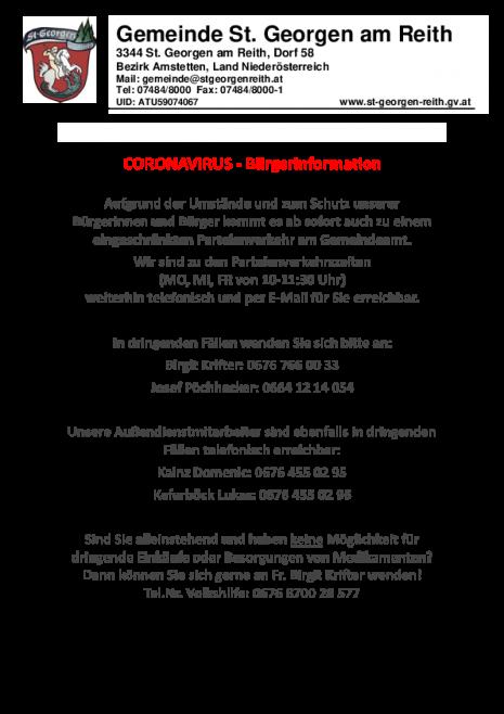 Gemeindeamt Parteienverkehr eingeschränkt, wichtige Tel.Nr..pdf