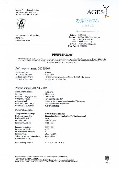 Trinkwasseruntersuchung WVA Mittleres Ybbstal Übergabeschacht Neuhofen-Ybbs, WD-16042020073149.pdf