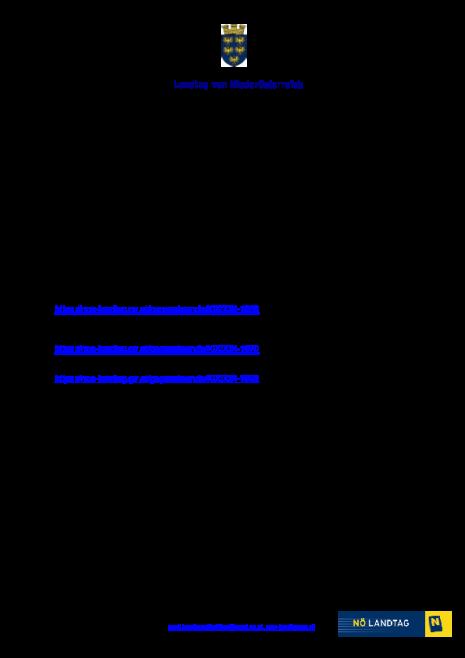 Information über Gesetzesbeschlüsse des Landtages