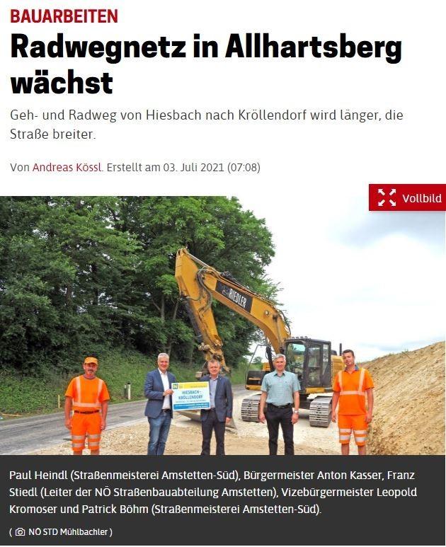 20210703_NOEN_Radwegnetz in Allhartsberg waechst.JPG